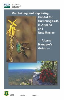 Land managers guide to habitat for hummingbirds in AZ and NM.