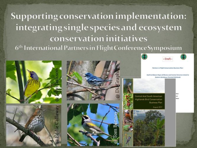 PIF 6 Symposium: integrating single species and ecosystem initiative