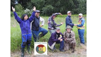 Picture of the  riparian bird research team at