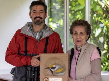 Liliana Chavarria receiving her 2018 PIF Public Awareness Award